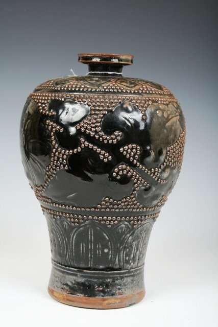 4: Ming Dynasty Chinese Brown Glazed Mei Ping Vase