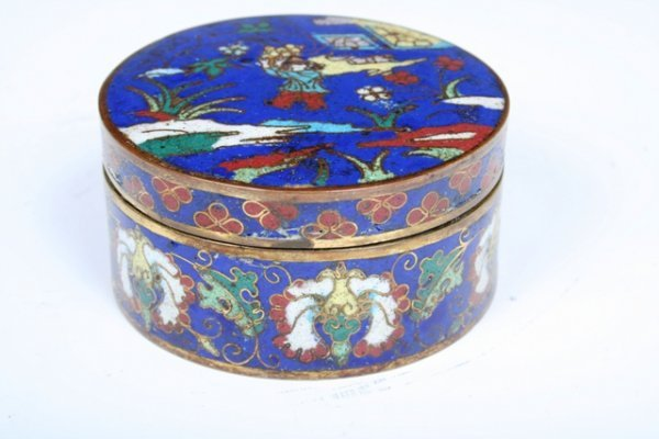 10: 2 19th C Chinese Cloisonne Boxes