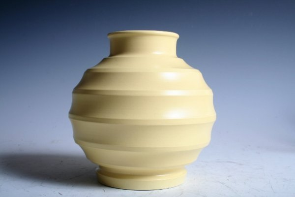 "599: Keith Murray for Wedgwood ""Bomb"" Vase c1940"