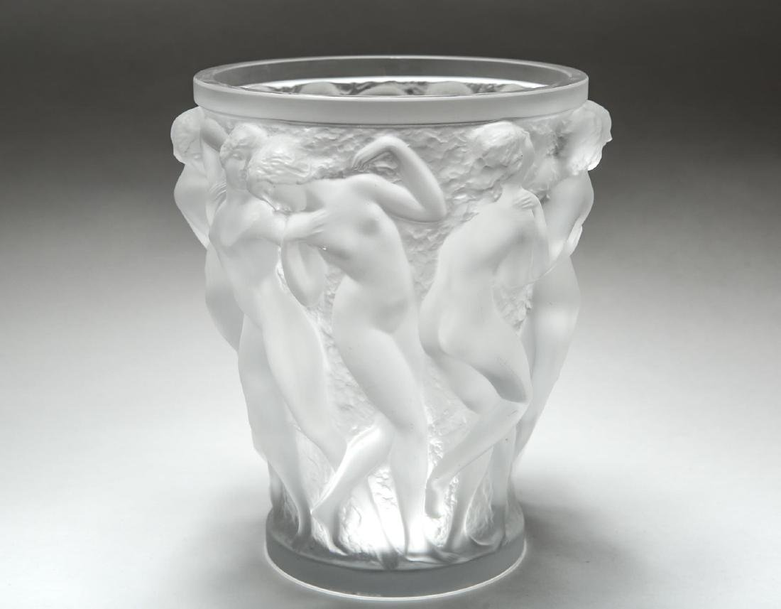 "Lalique ""Bacchantes"" Crystal Vase, Satin-Frosted - 2"