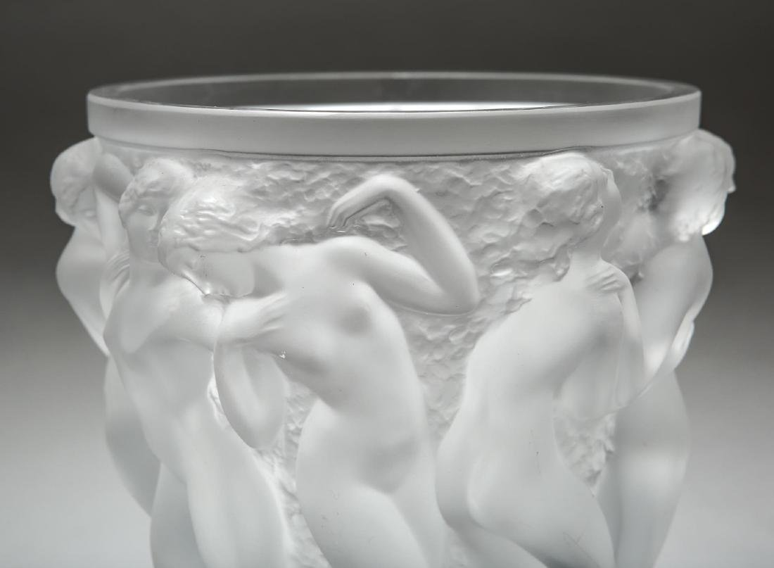 "Lalique ""Bacchantes"" Crystal Vase, Satin-Frosted - 3"