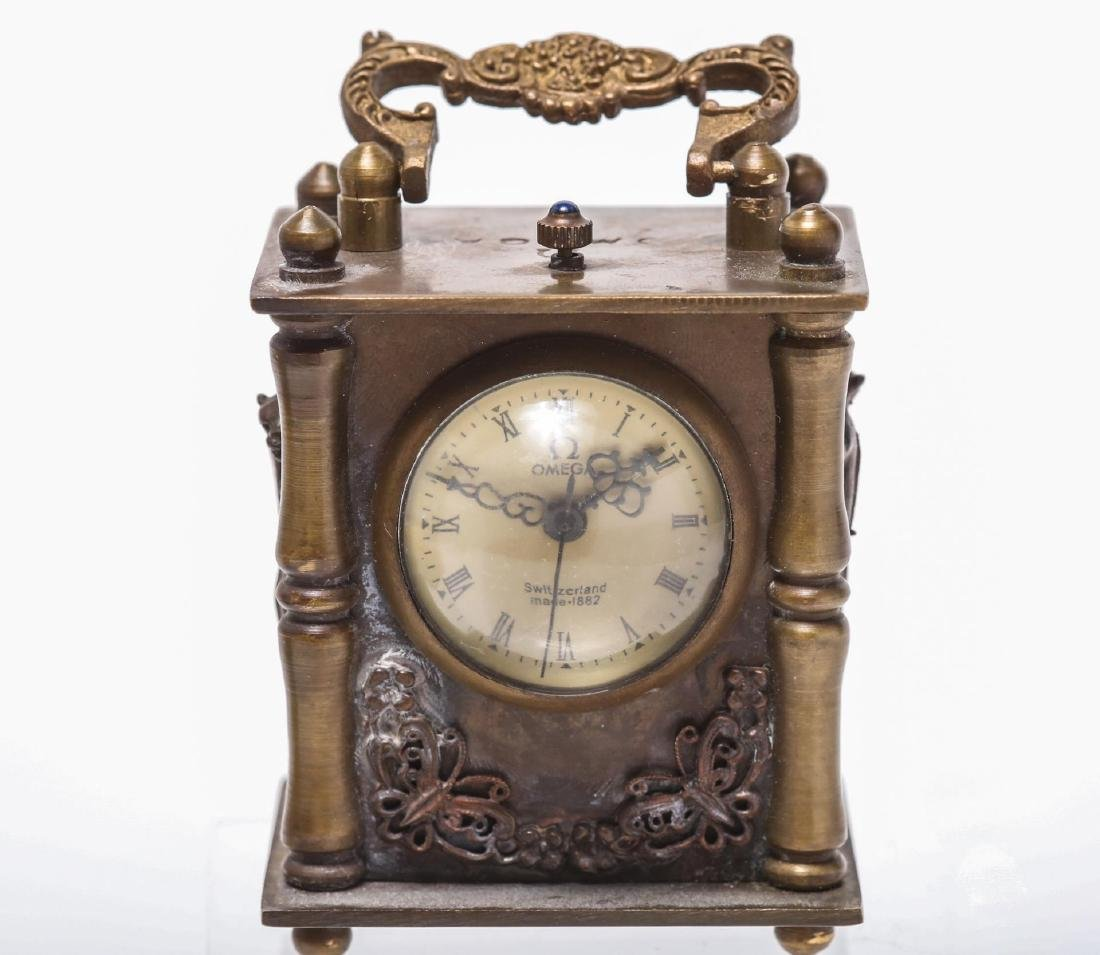 Omega Miniature Carriage Clock, Bronze