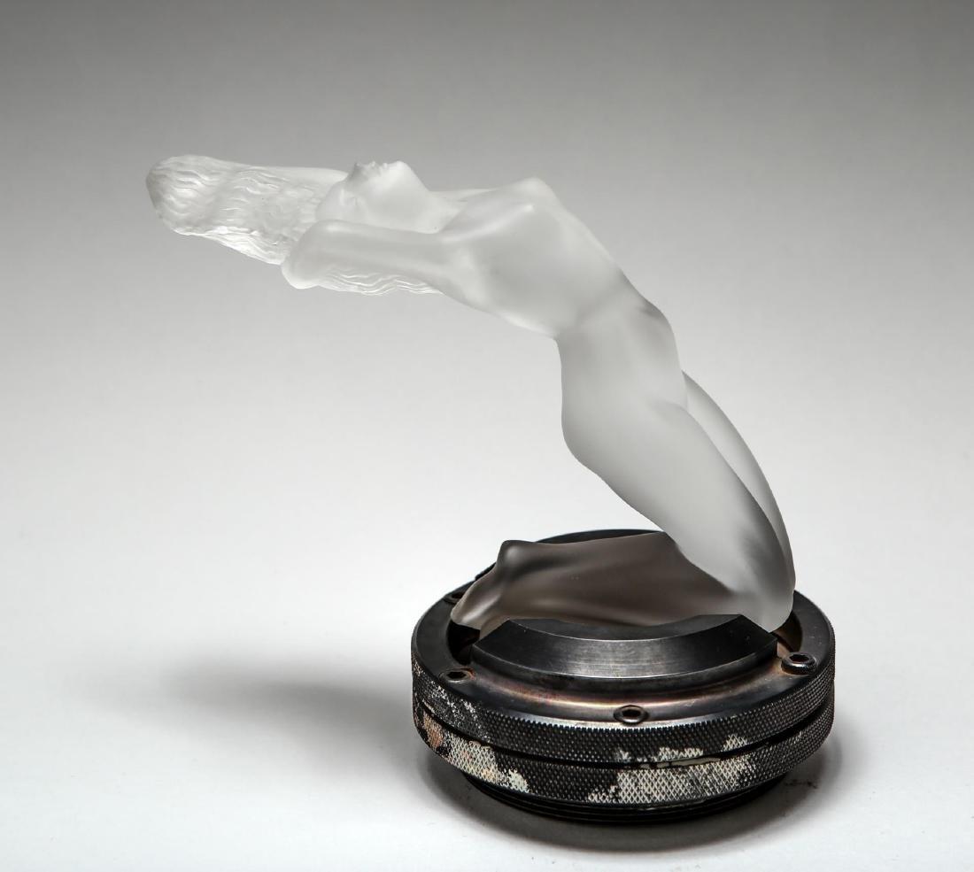 "Lalique Glass ""Chrysis"" Car Mascot Hood Ornament"