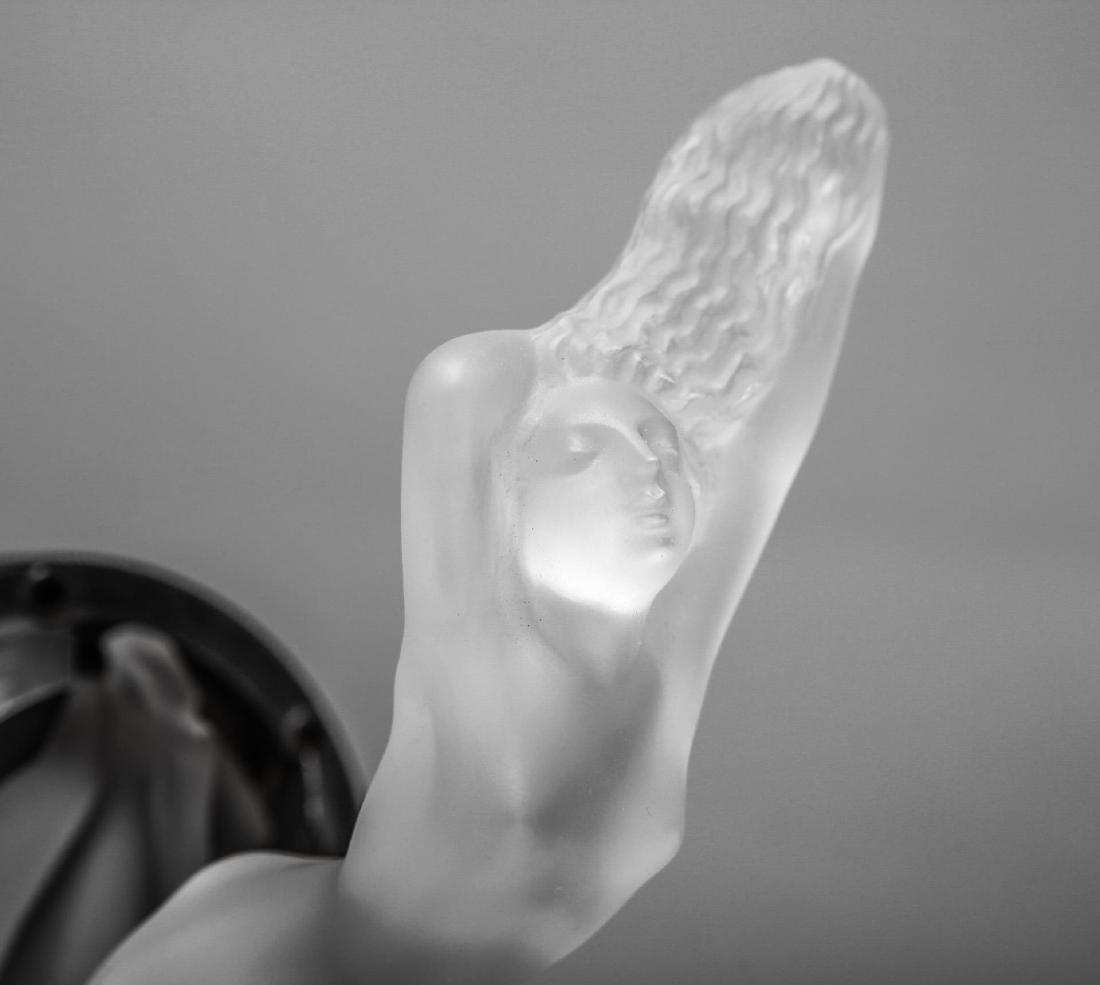 "Lalique Glass ""Chrysis"" Car Mascot Hood Ornament - 5"
