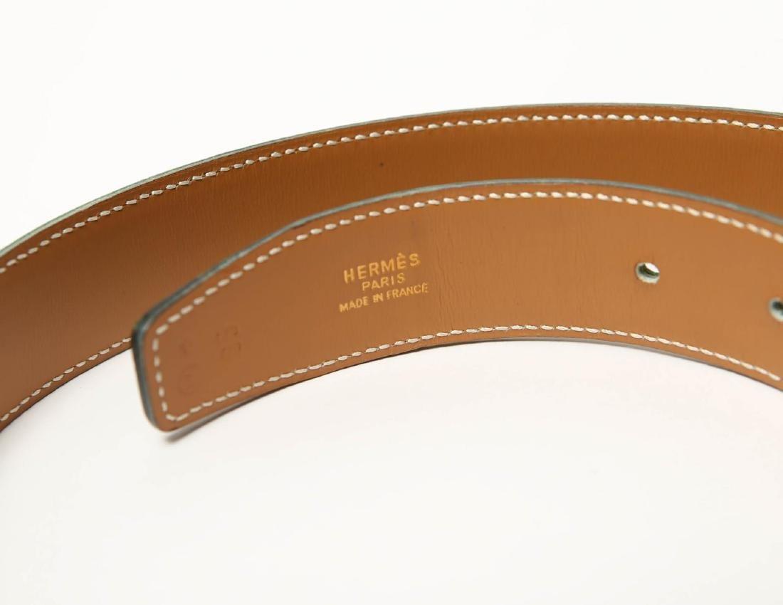 Hermes Belt, Green Leather, Woman's - 4