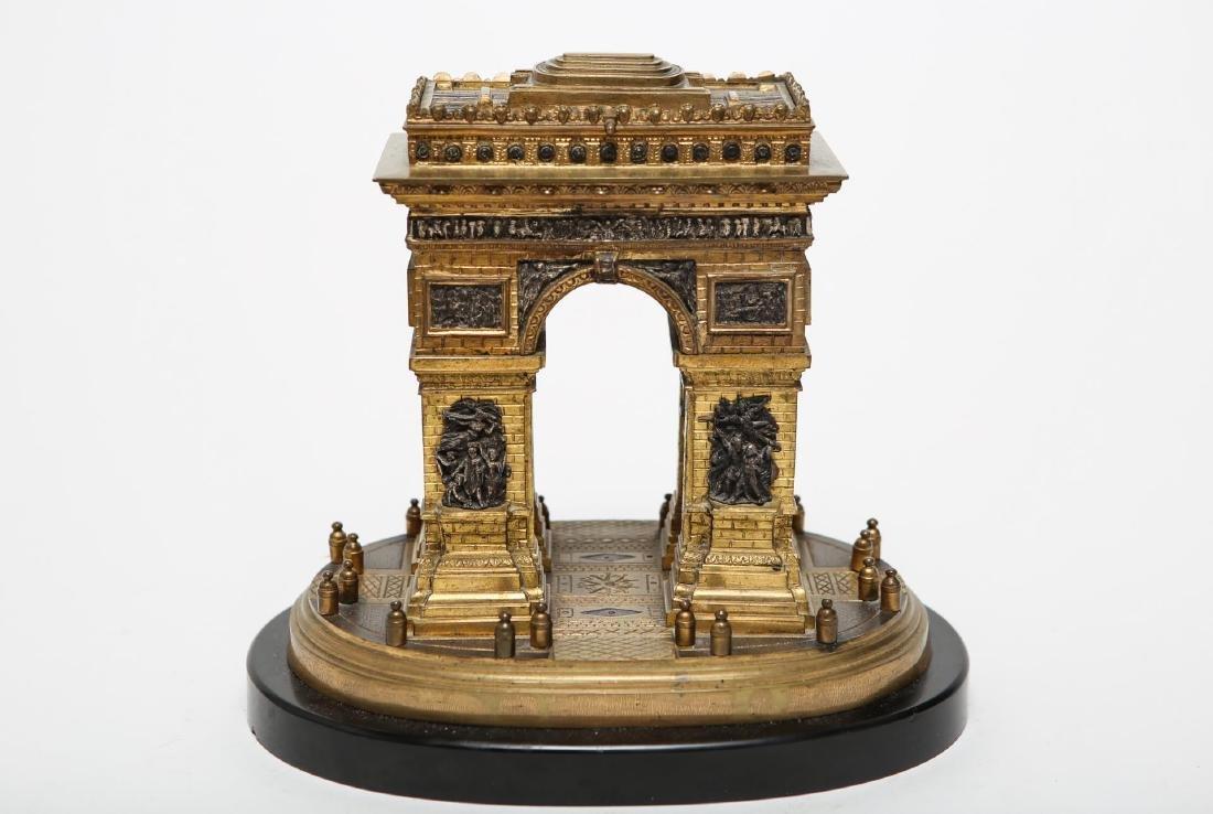 Grand Tour Bronze Arc de Triomphe Souvenir ca 1850