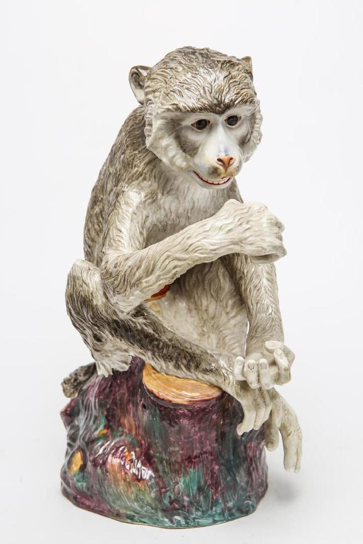 After JJ Kandler Meissen-Manner Porcelain Monkey