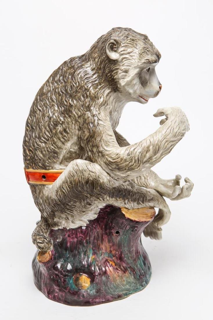 After JJ Kandler Meissen-Manner Porcelain Monkey - 3