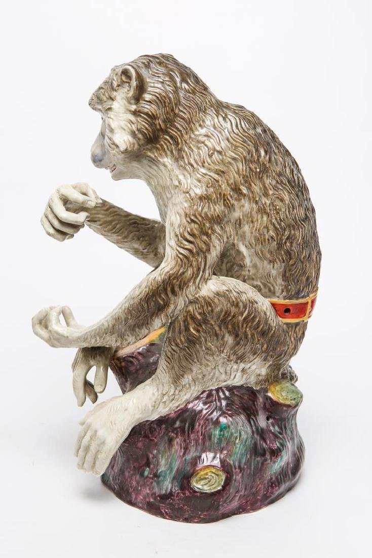 After JJ Kandler Meissen-Manner Porcelain Monkey - 5