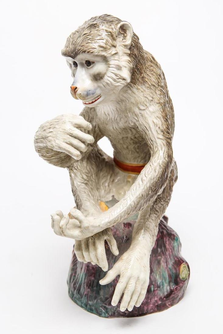 After JJ Kandler Meissen-Manner Porcelain Monkey - 6