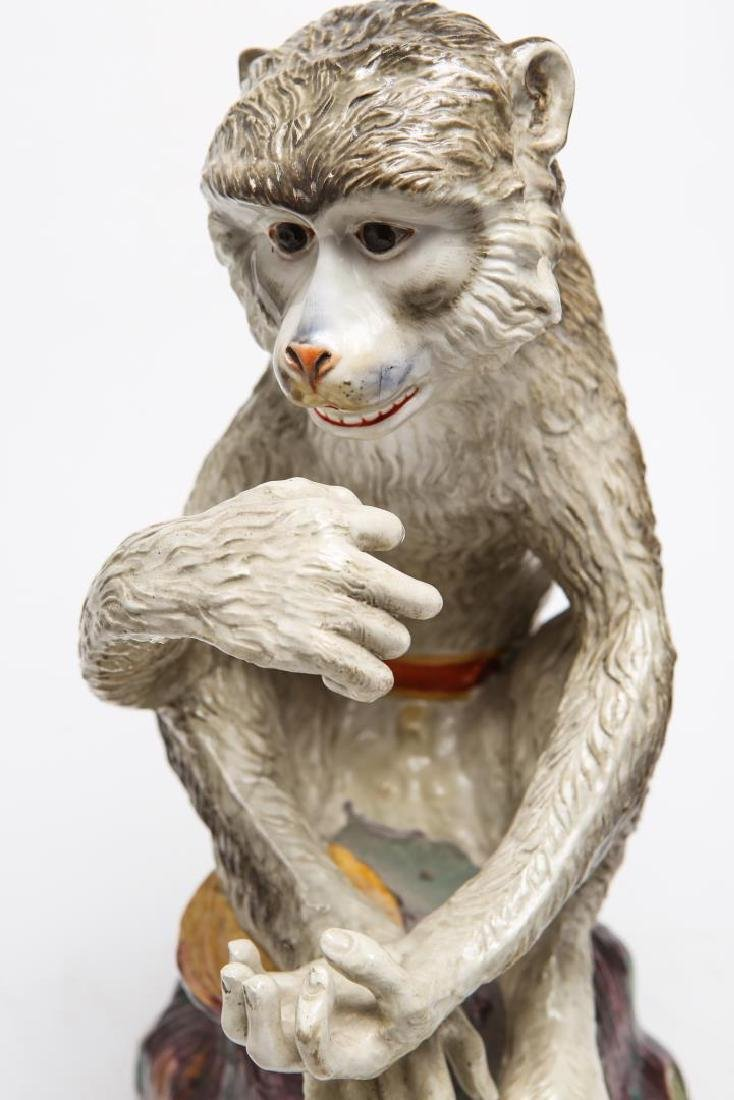 After JJ Kandler Meissen-Manner Porcelain Monkey - 7