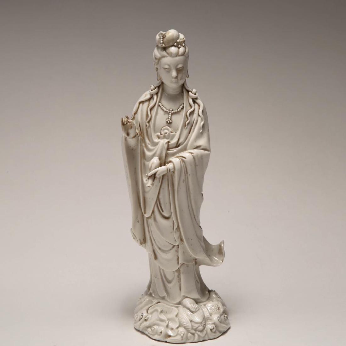 Chinese Qing Blanc de Chine Porcelain Guanyin