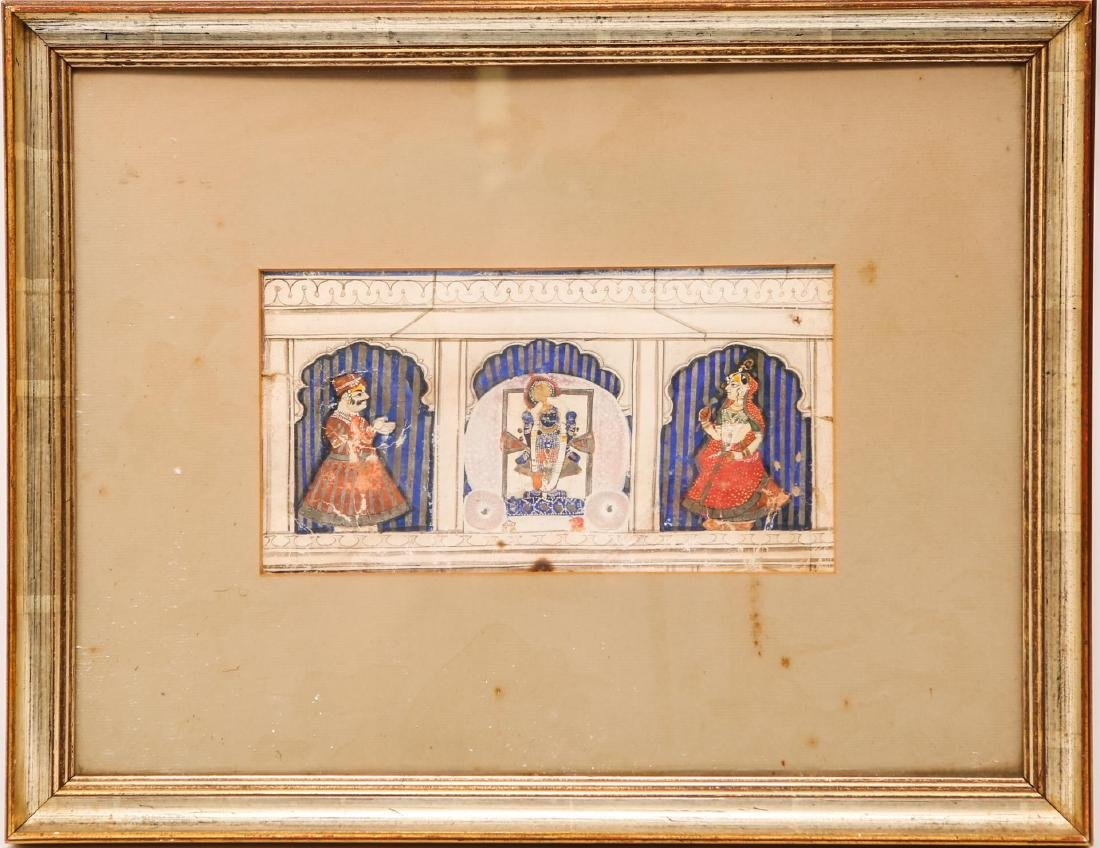 Indian Miniature Painting, poss. Manuscript Page