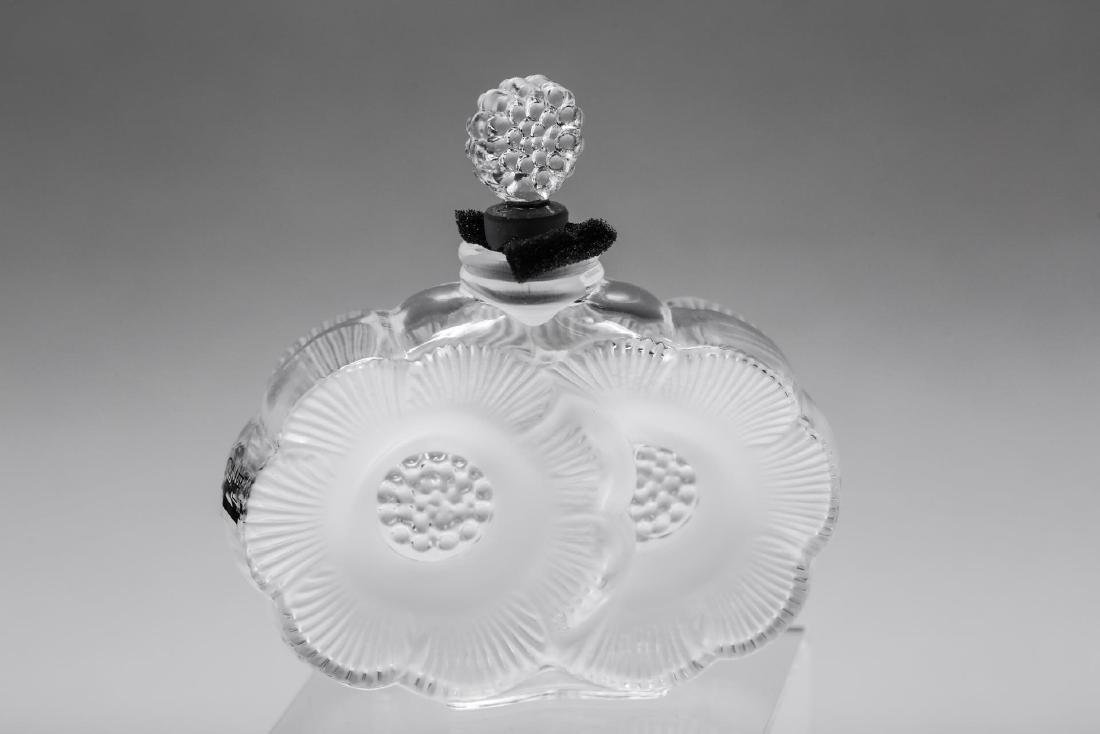 Lalique Glass Perfume Bottle, Anemone Flowers