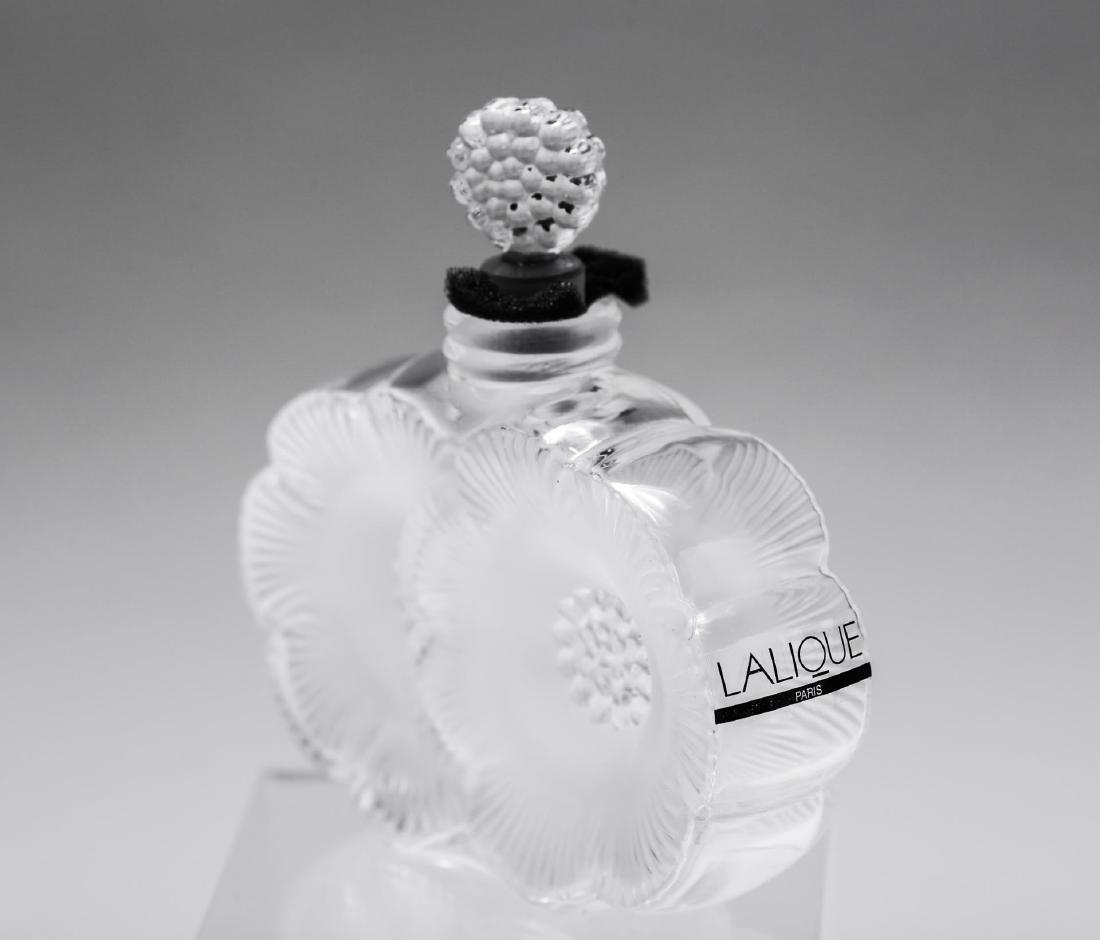 Lalique Glass Perfume Bottle, Anemone Flowers - 2