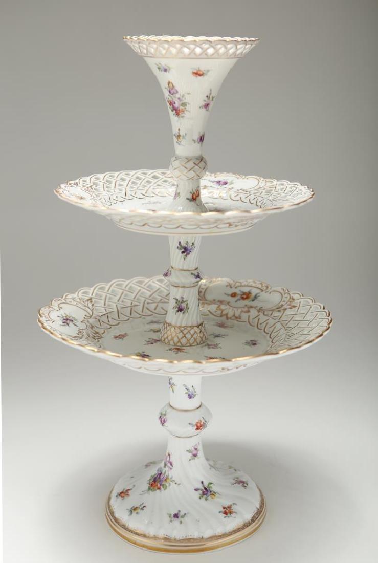 Dresden Meissen Porcelain Dessert Epergne or Stand