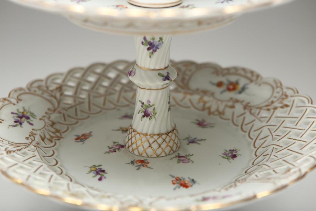 Dresden Meissen Porcelain Dessert Epergne or Stand - 4