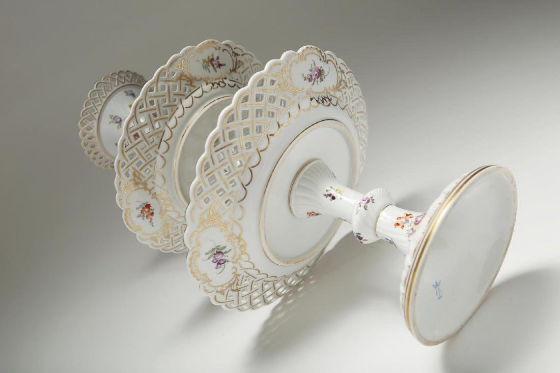 Dresden Meissen Porcelain Dessert Epergne or Stand - 3
