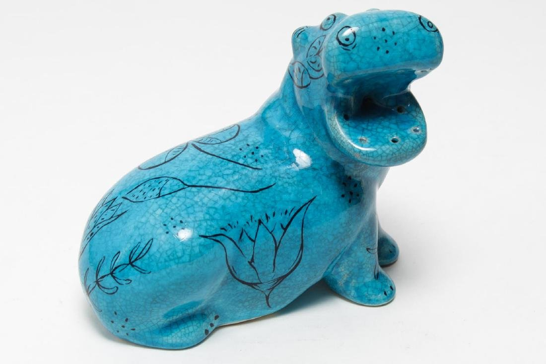 "After Ancient Egypt, ""Nile Hippo,"" Large Pottery"