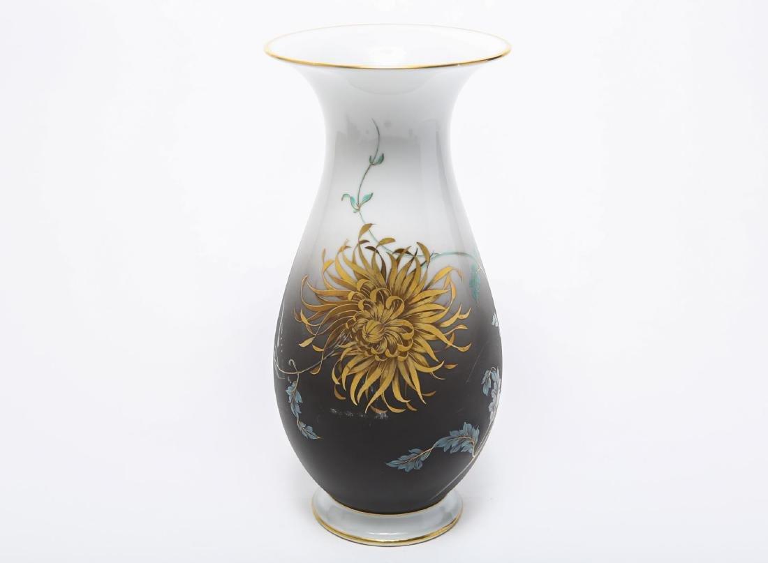 Heinrich Art Nouveau Porcelain Vase, Signed Merz