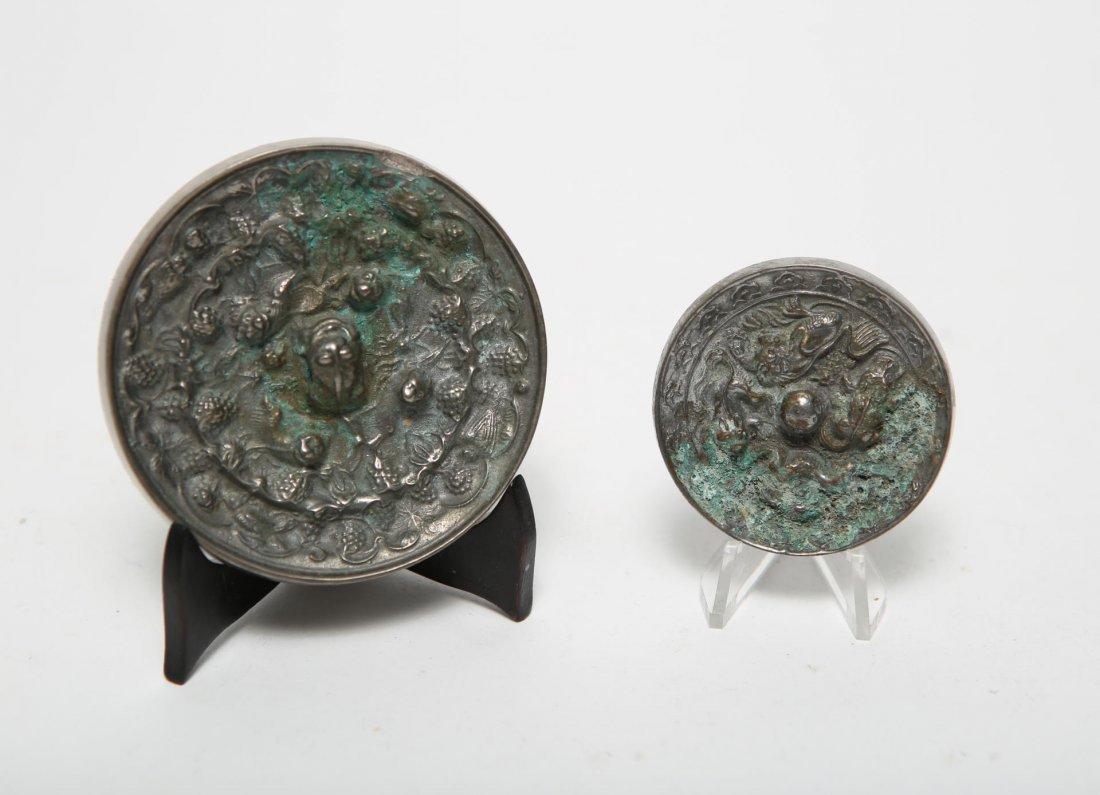 Chinese Tang  Miniature Steel Mirrors, 2