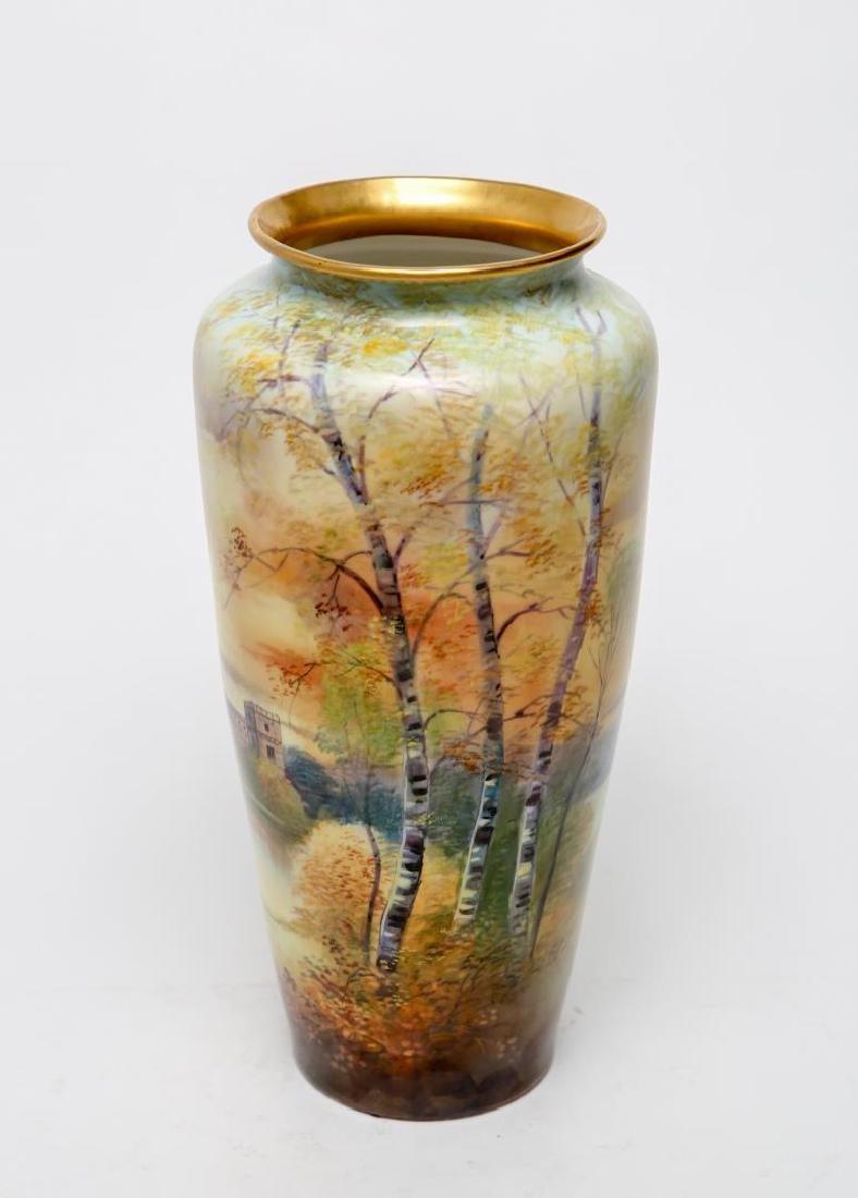 T&V Limoges Porcelain E. Challinor Vase, 1920s