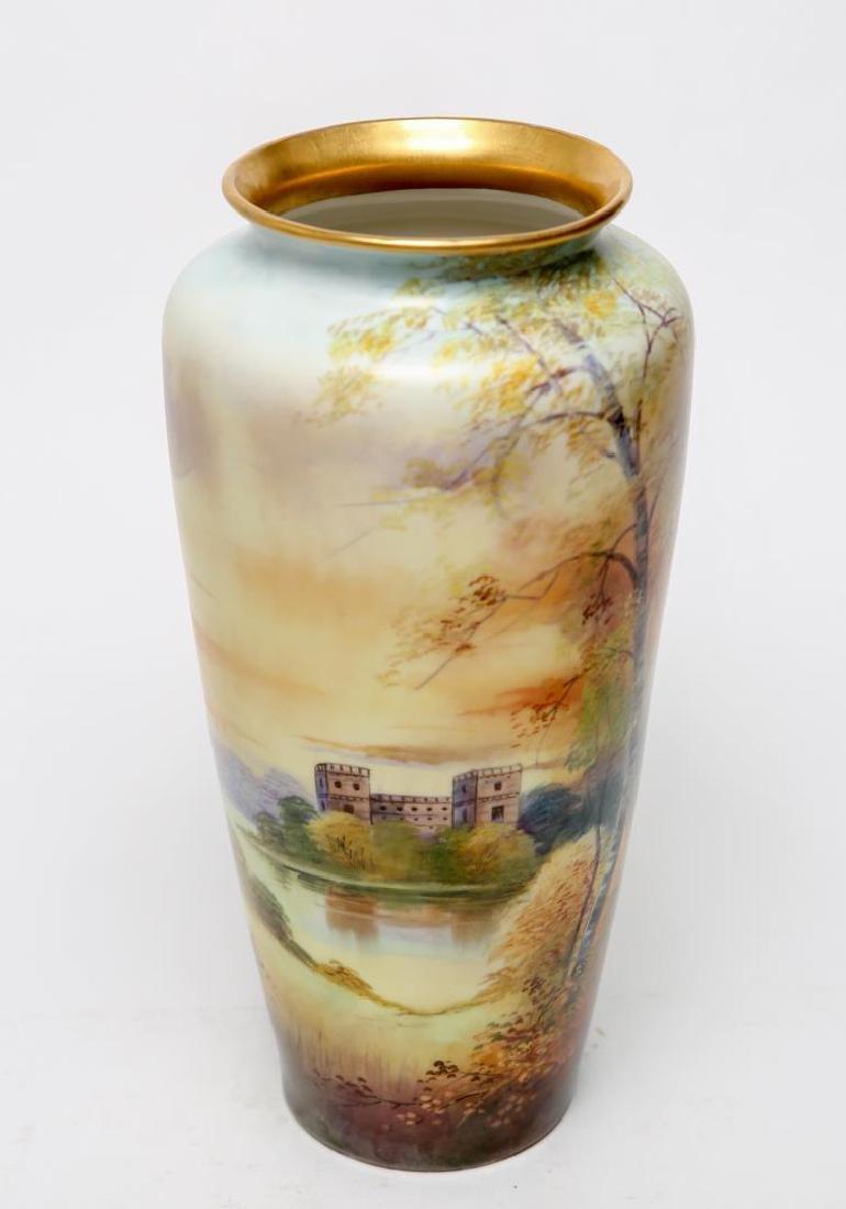 T&V Limoges Porcelain E. Challinor Vase, 1920s - 3