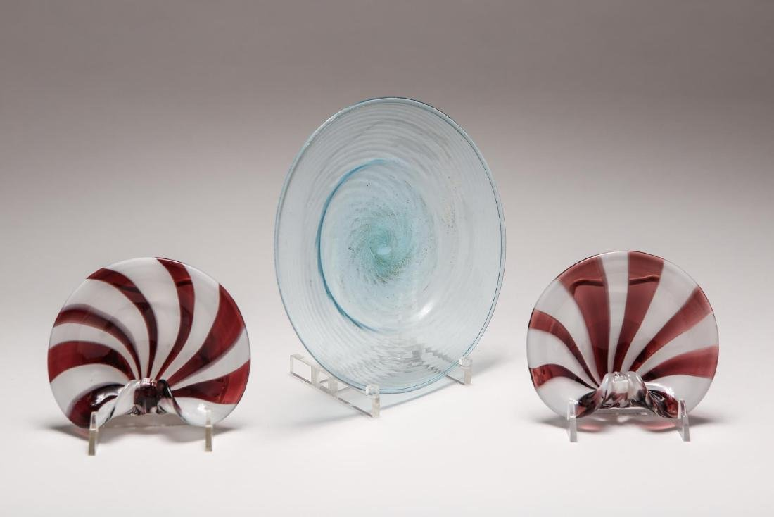 Murano Glass Plate & Shell Bowls, Venetian Italian