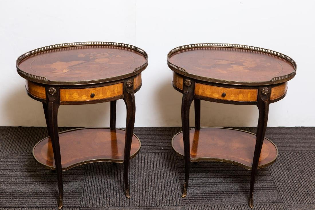French Louis XV-Manner Chinoiserie Side Tables