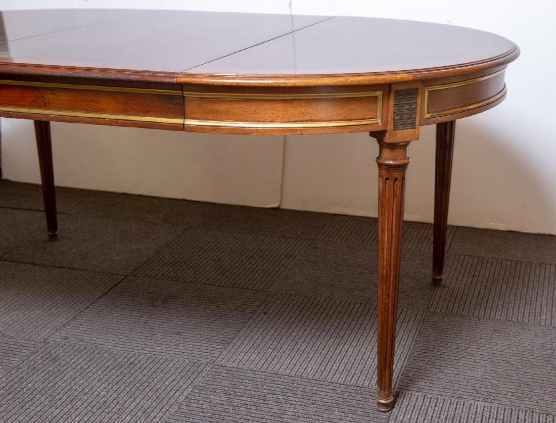 Louis XVI-Manner Antique Dining Table, Mahogany - 4