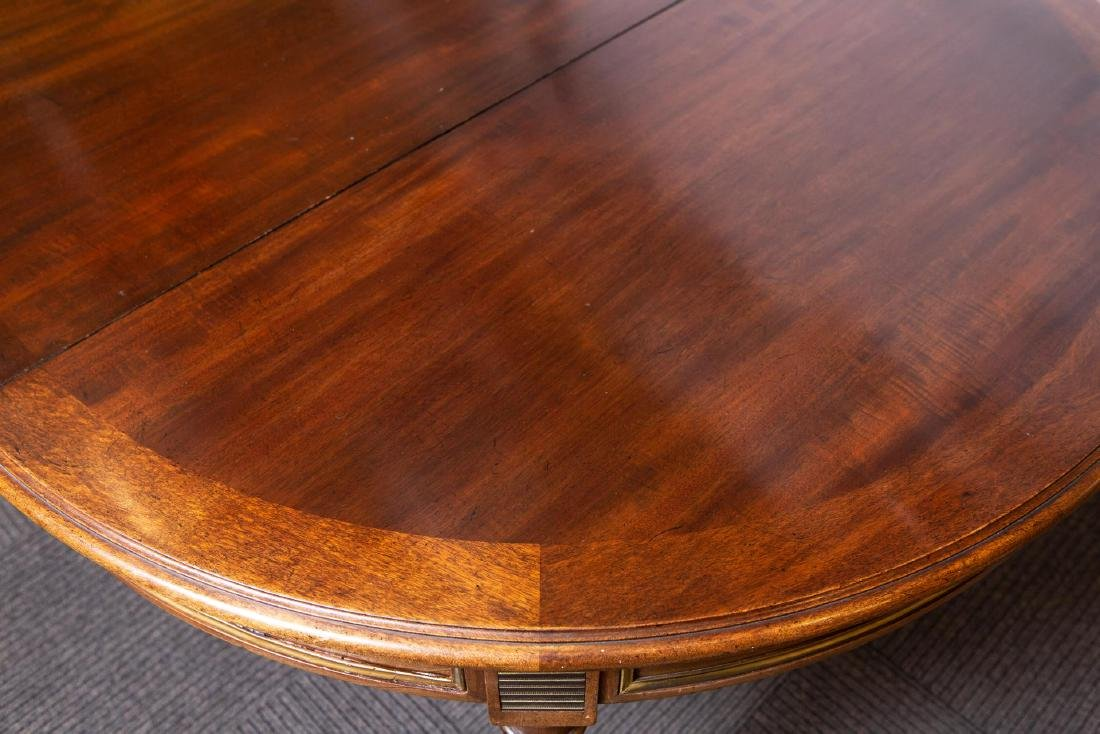 Louis XVI-Manner Antique Dining Table, Mahogany - 5