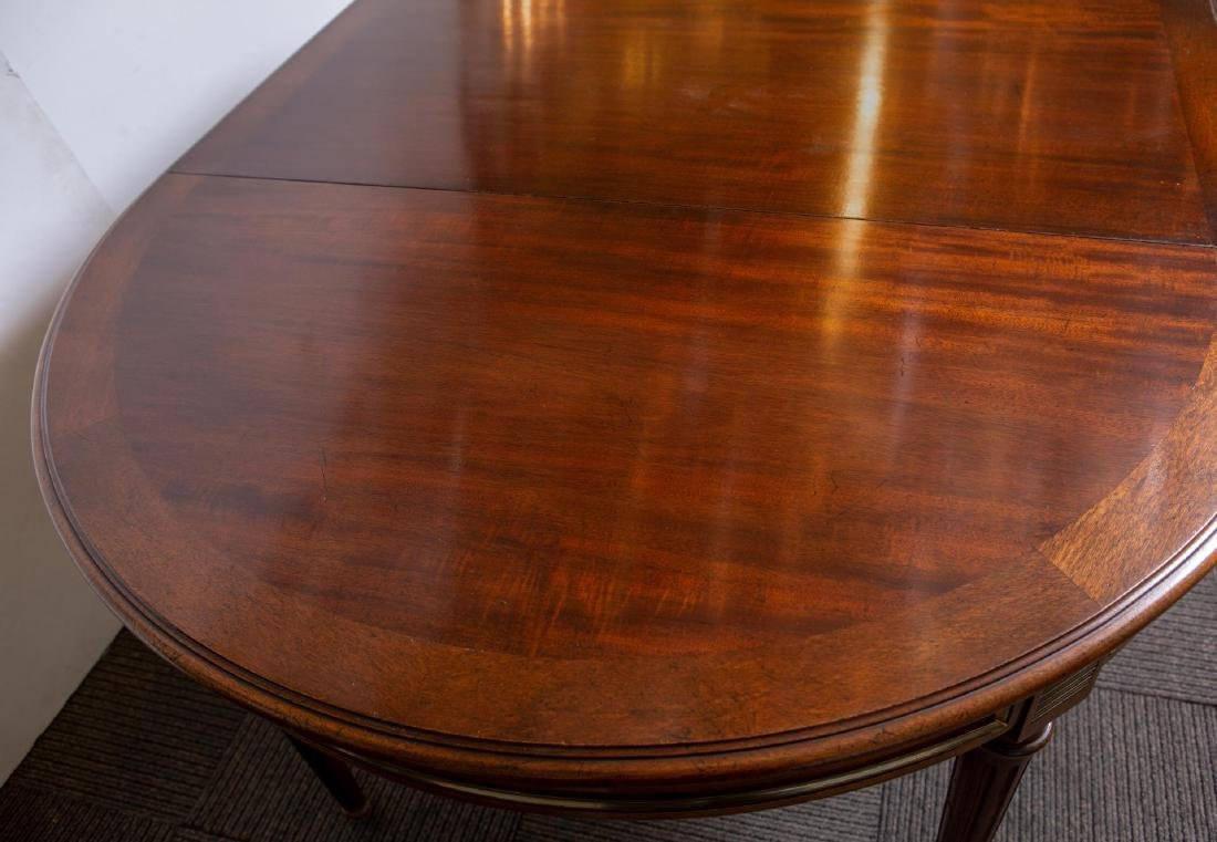 Louis XVI-Manner Antique Dining Table, Mahogany - 6