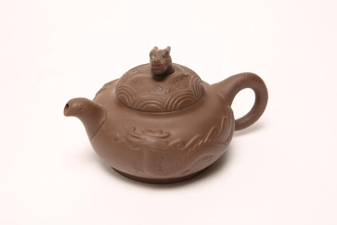Chinese Yixing Teapot with Dragons