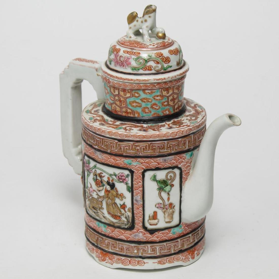 Chinese Qing Wine Pot, Famille Rose Porcelain