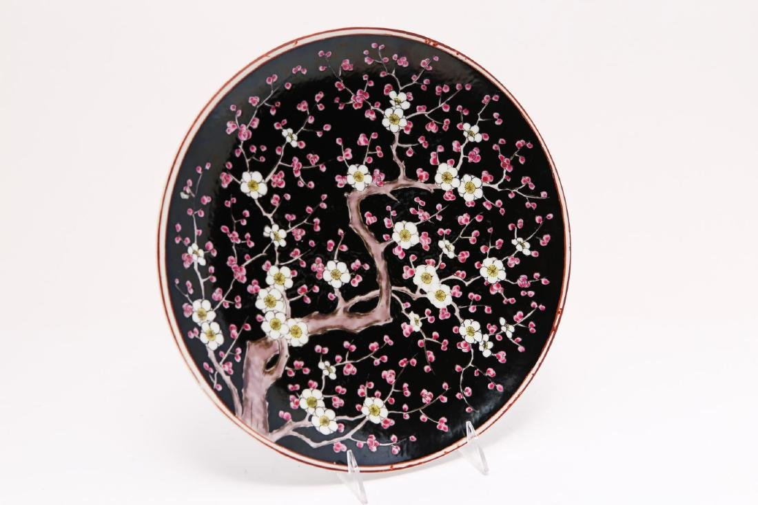 Chinese Porcelain Serving Plate, Camellia-Painted