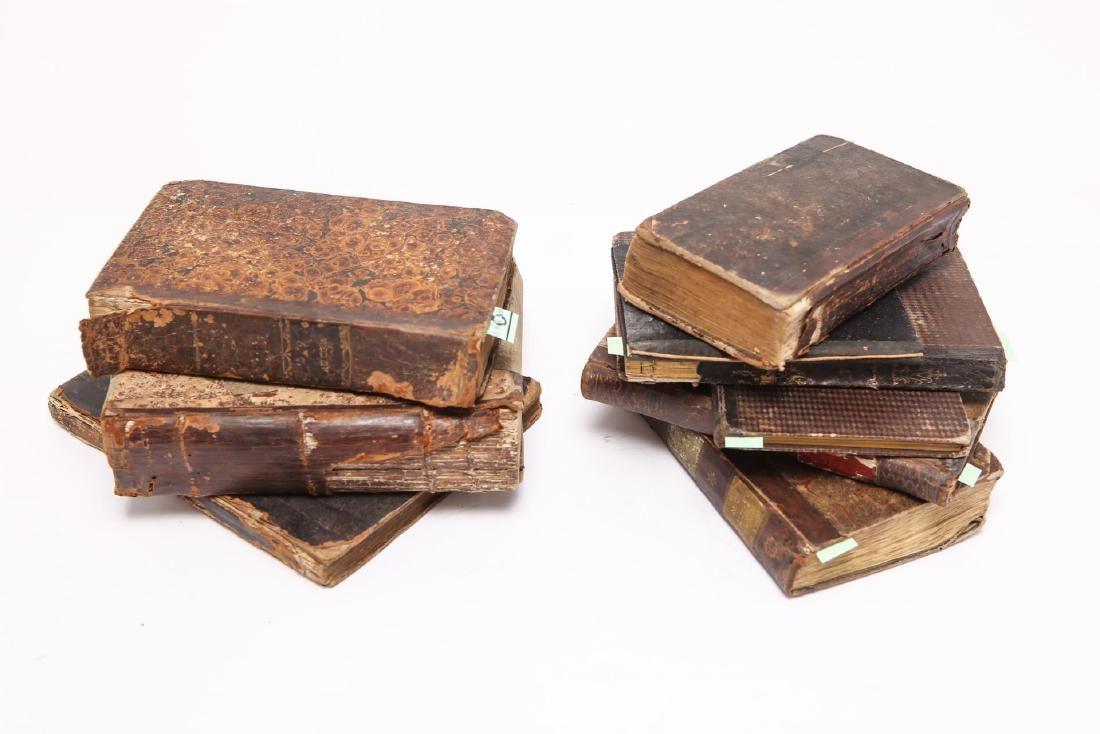 German Judaica Religious Books, 9 Antique 19th C.