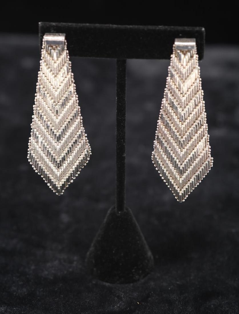 Mexican Silver Earrings, Southwestern-Manner