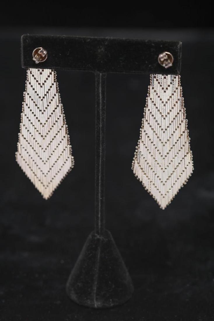 Mexican Silver Earrings, Southwestern-Manner - 2