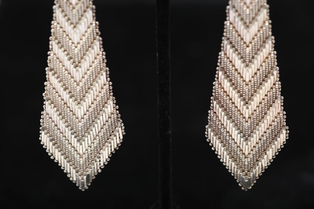 Mexican Silver Earrings, Southwestern-Manner - 3
