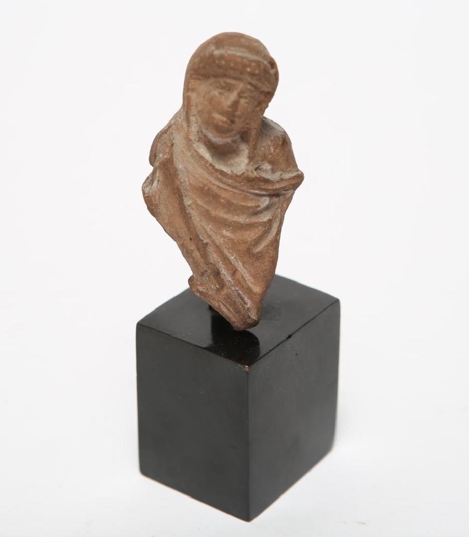 Ancient Roman Pottery Votive Fragment, Matron