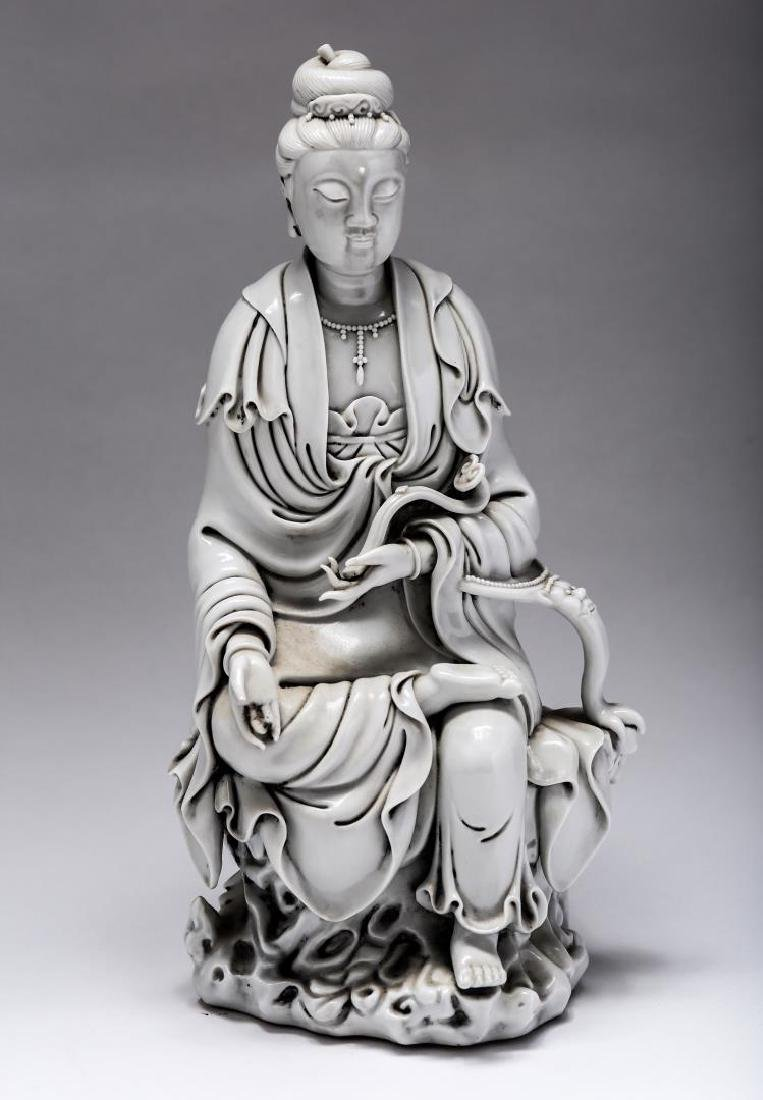 Chinese Blanc-de-Chine Guanyin Porcelain, Antique