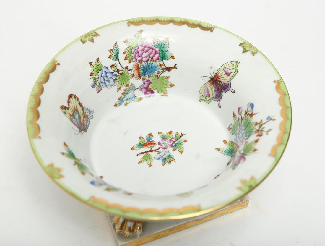 "Herend Hungary Porcelain ""Queen Victoria"" Bowl - 6"