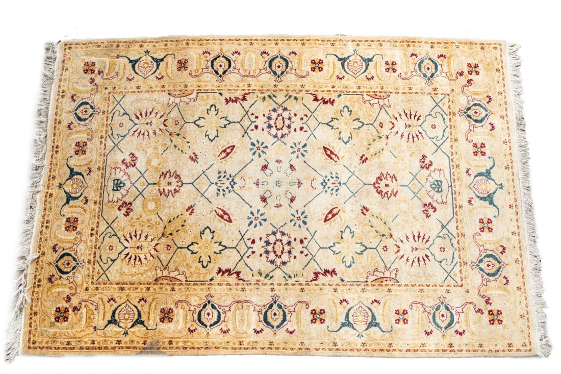 Antique Persian Kashan Rug, 4' X 6'