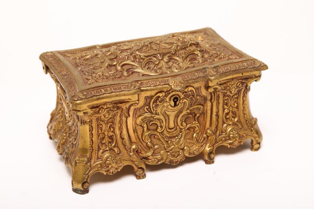 Spanish Baroque-Manner Jewelry / Music Box, Brass
