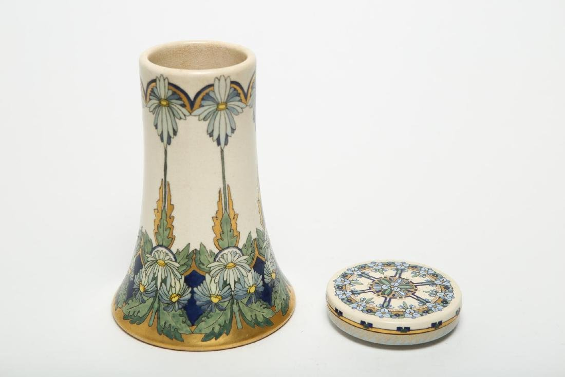 Art Nouveau & Other Pottery, Polychrome-Glazed