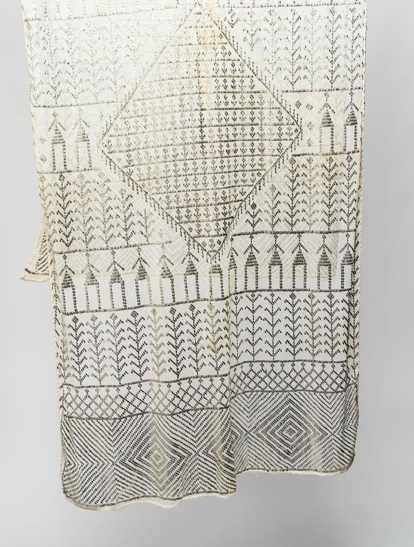 Assuit or Tulle Bi Telli Shawl, Egyptian Lace
