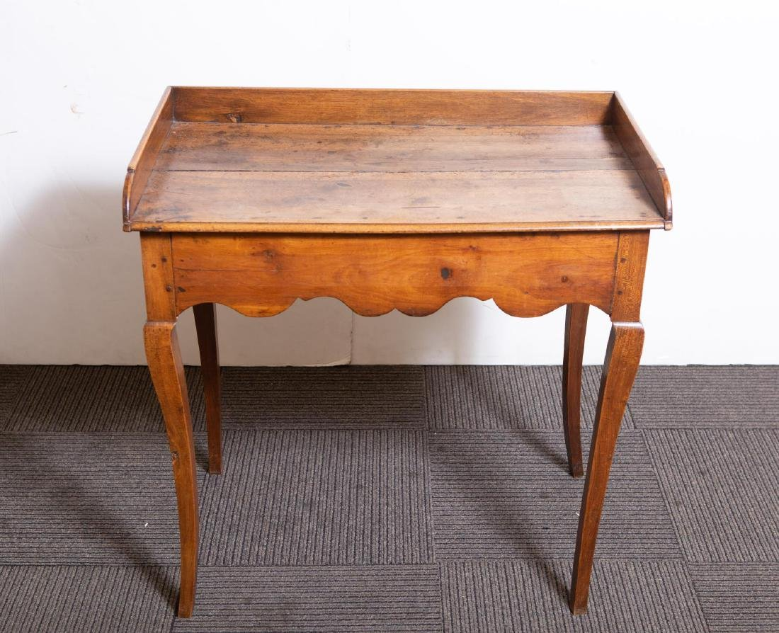 French Provincial Walnut Wood Table, Antique