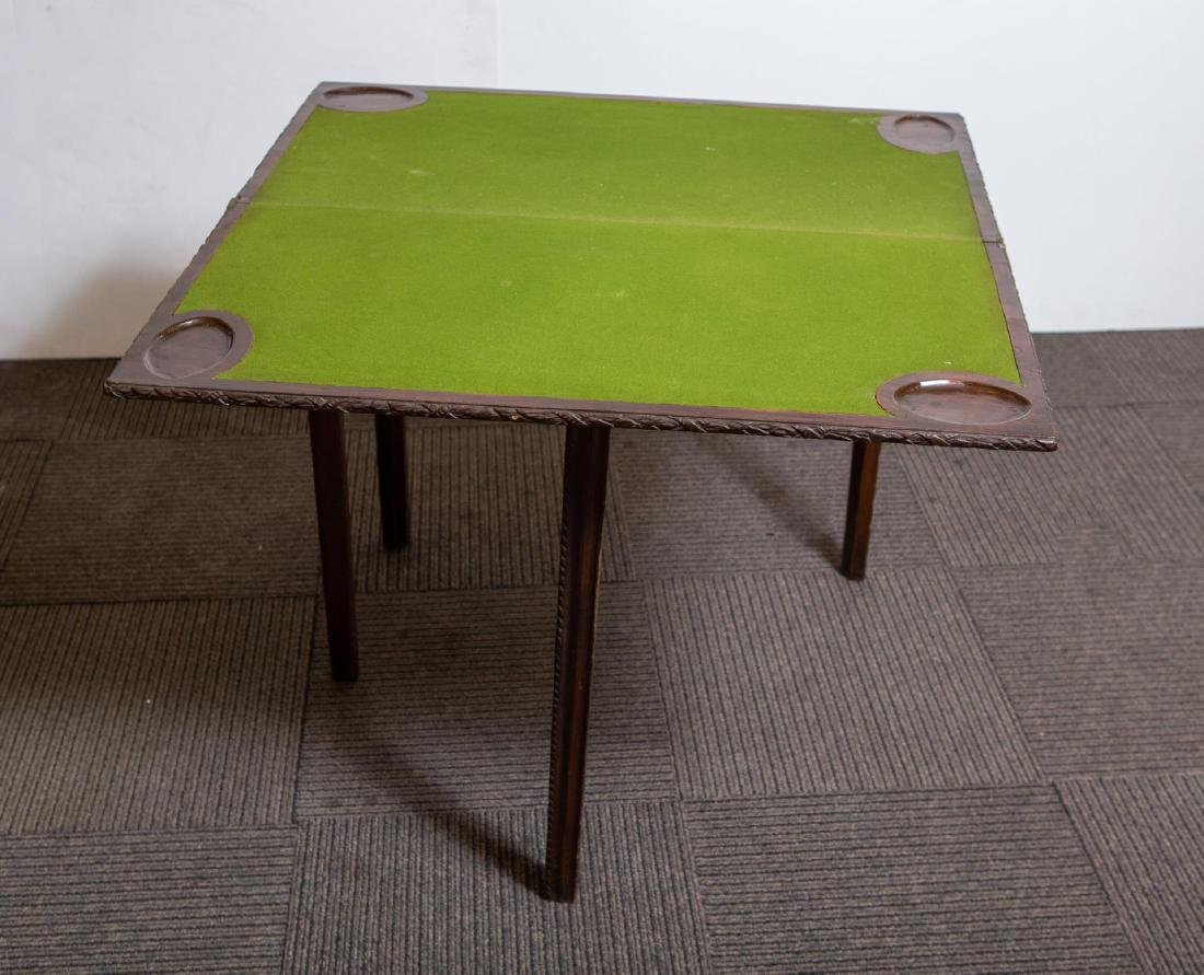 Hepplewhite-Manner Game Table, Antique Mahogany