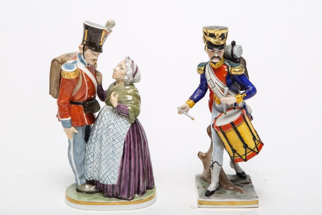 Royal Copenhagen & Dresden Soldier Figurines