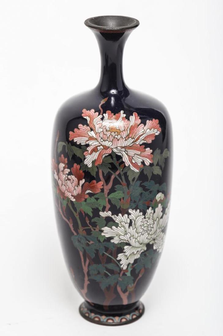 Japanese Cloisonne Enamel Vase, Antique